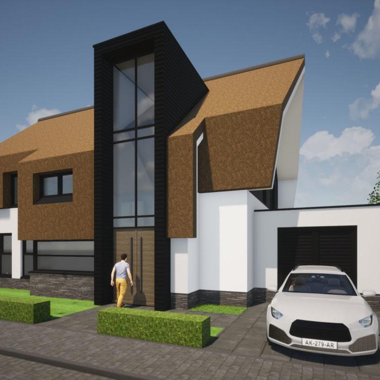 nieuwbouw villa riet