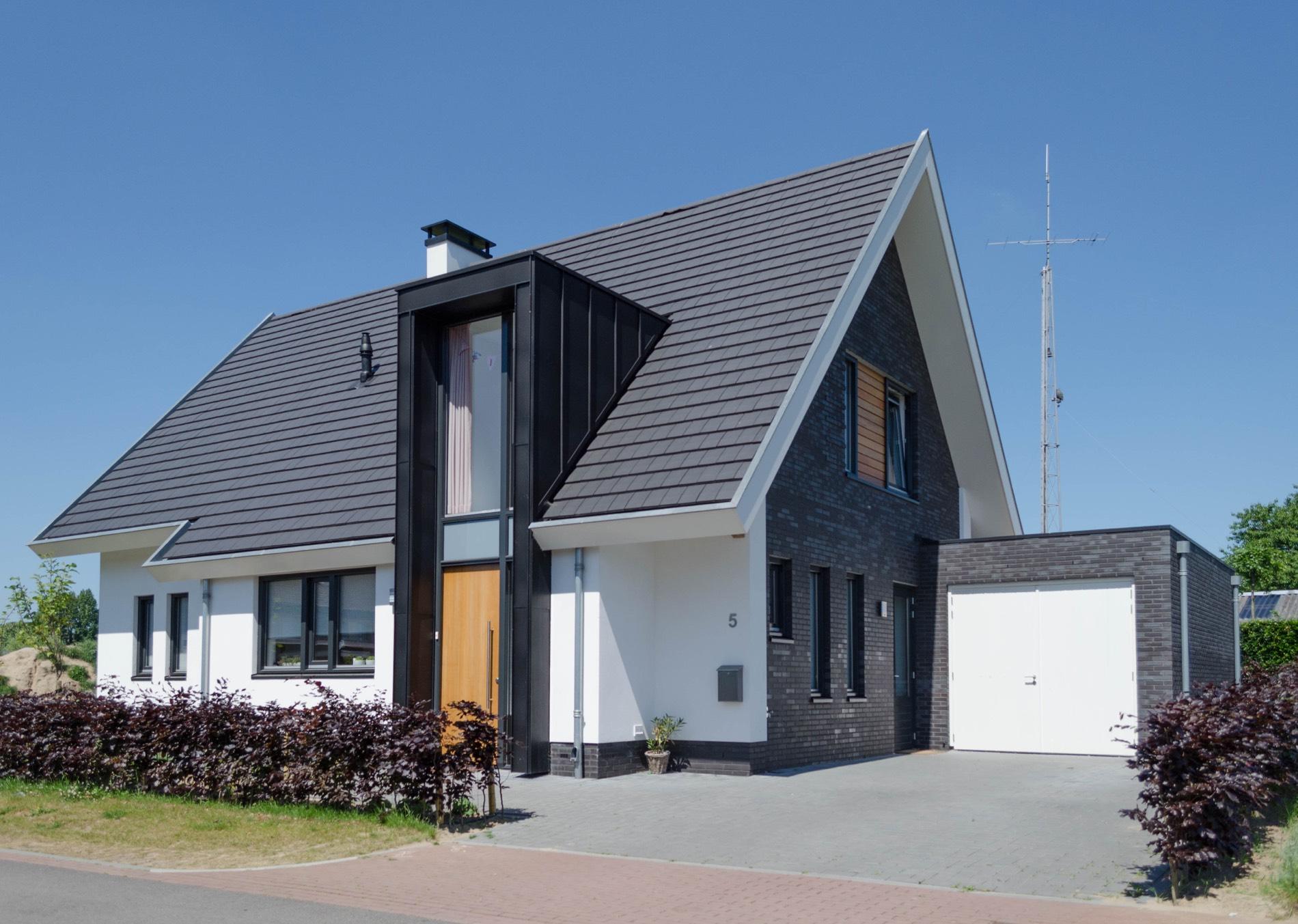 nieuwbouw woning modern stucwerk
