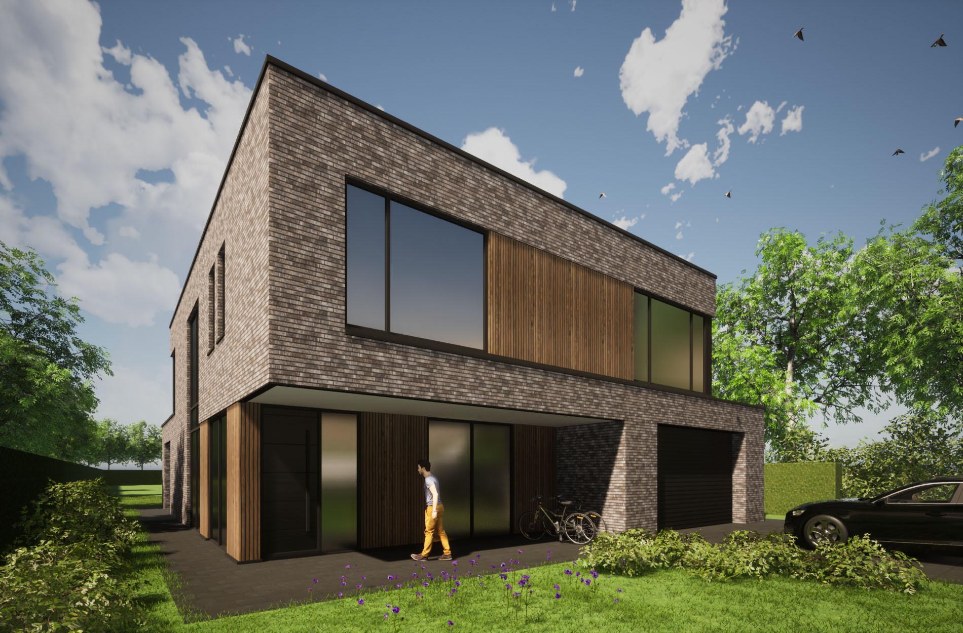 nieuwbouw villa kubistisch