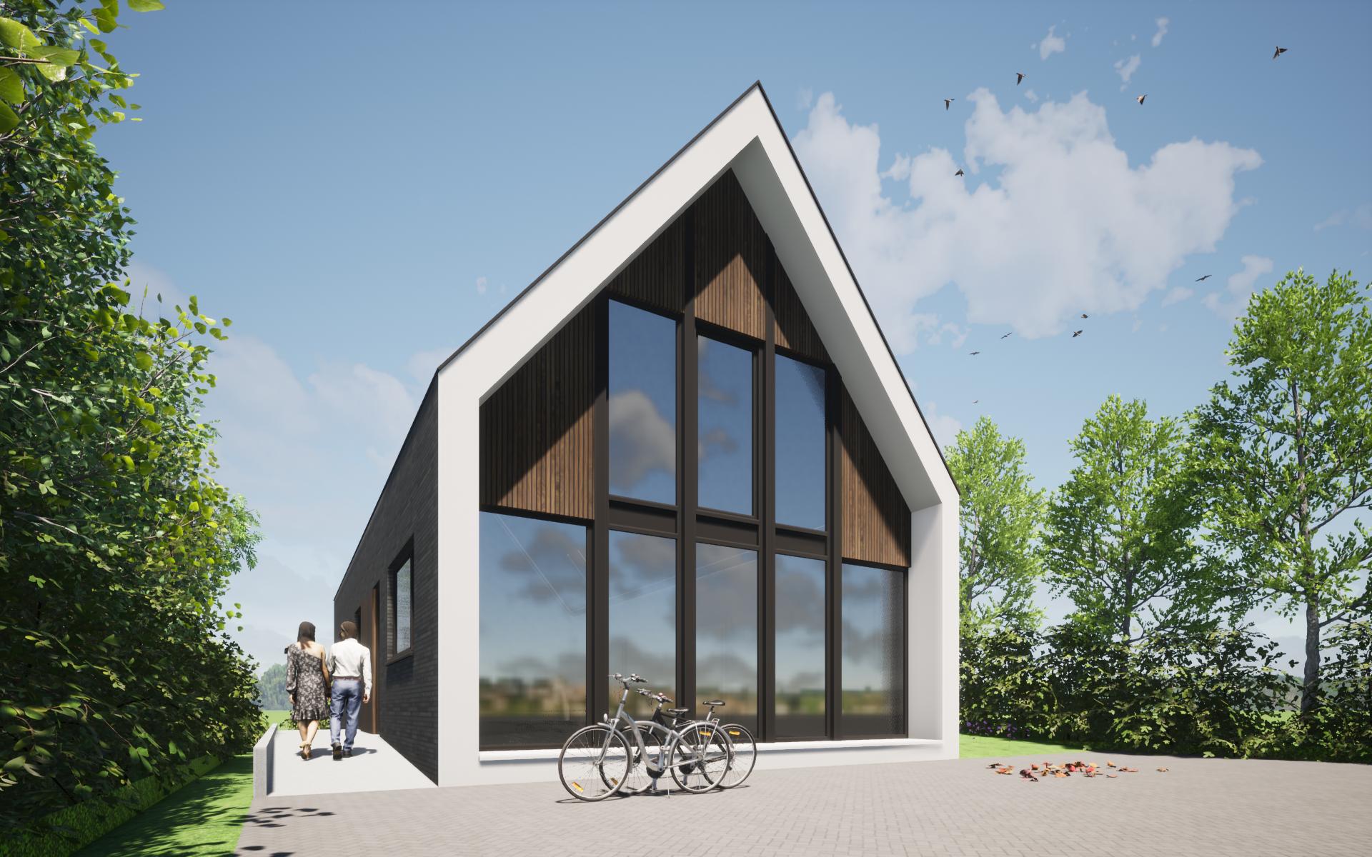 schuurwoning modern architectuur ontwerp 1