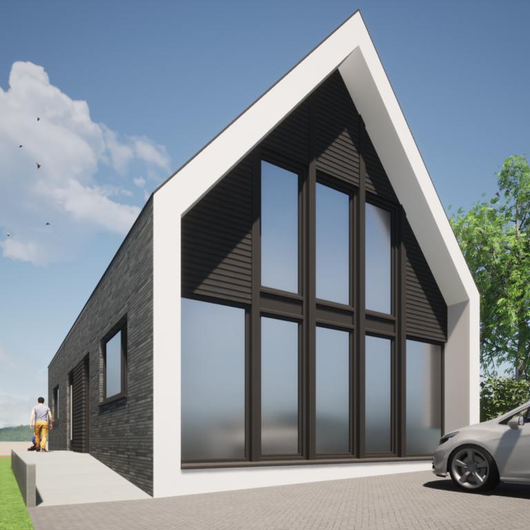 moderne schuurwoning nieuwbouw