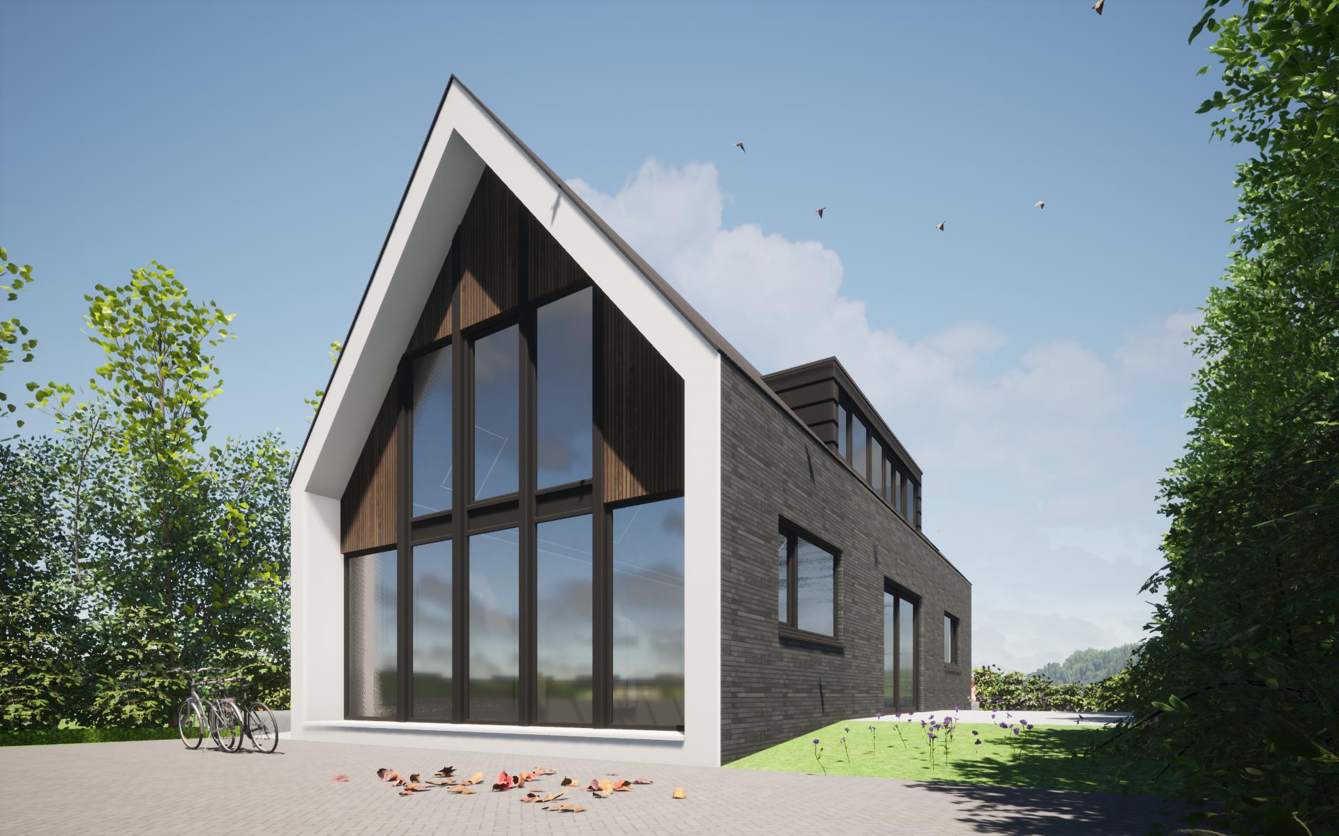 schuurwoning modern architectuur ontwerp 2