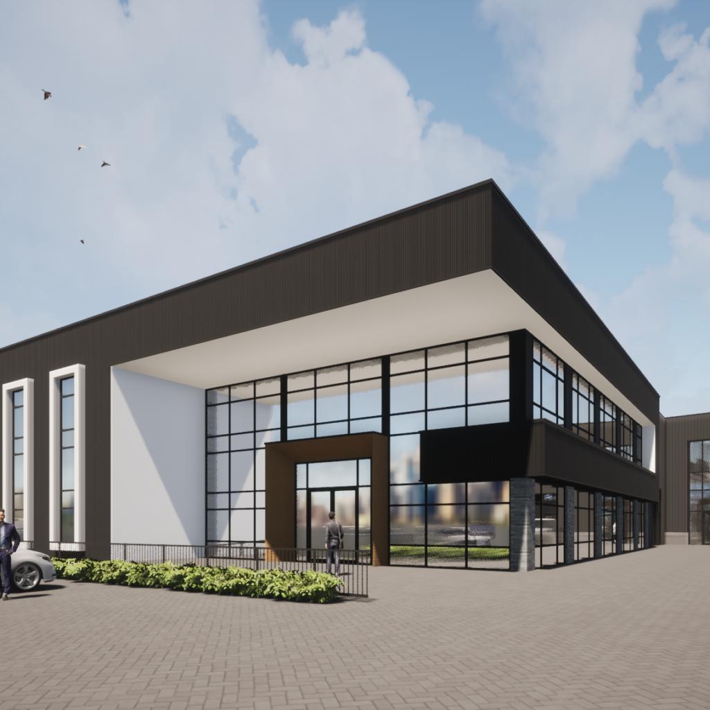 bedrijfspand bedrijfsgebouw kantoor nieuwbouw